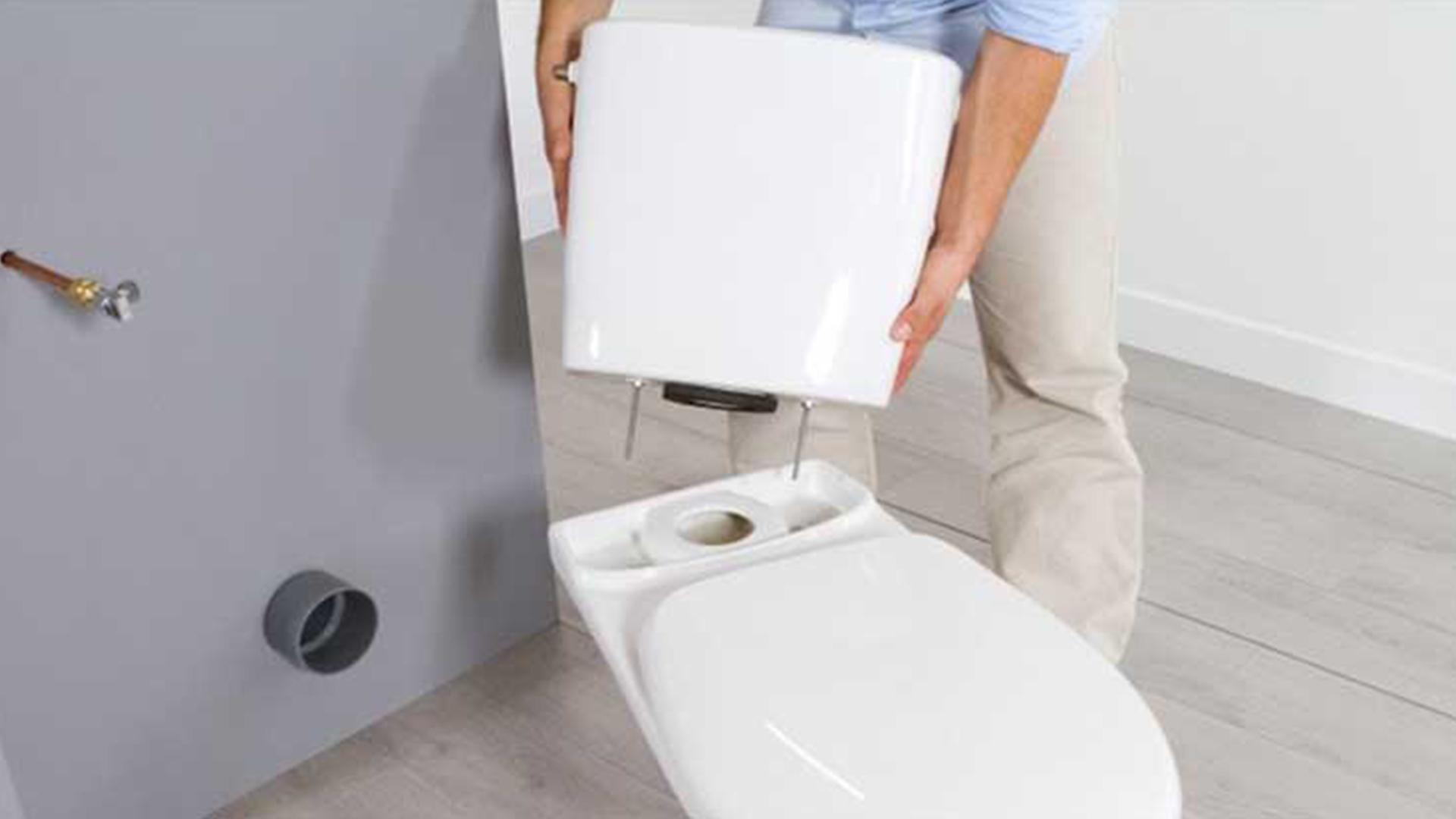 Nettoyer Lunette Toilettes Vinaigre Blanc fuite fixations réservoir sur cuvette wc